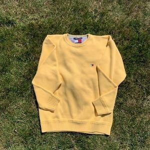 Tommy Hilfiger yellow knit sweater